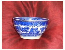 VINTAGE  WASHINGTON POTTERY  WILLOW PATTERN BOWL WITH GILT BAND ROUND THE TOP