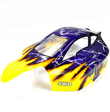81363 Off Road Nitro RC Échelle 1/8 Buggy Body Shell Jaune Bleu HSP Coupe Shell