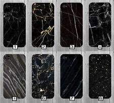 Black Plain Marble Phone Case Gold Initials Cheap Marbel iPhone Design 628