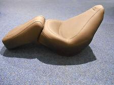 MUSTANG BLACK LEATHER VINTAGE SEAT FOR HARLEY DAVIDSON FXST/FLST 06-10 76400