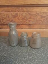 Old Vintage Clear Glass Bottle Lot of 3 K