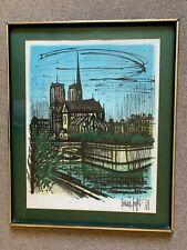 Notre Dame Original Lithograph by Bernard Buffet 1968 Signed & Framed