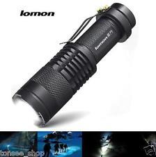 LOMON IPX-55 Wasserdicht life LED Draussen taktisch Taschenlamp Zoom Posaune