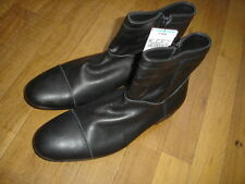 ZARA chaussures  bottines taille 41 noir cuir souple neuf dans sa boite Ref: N09