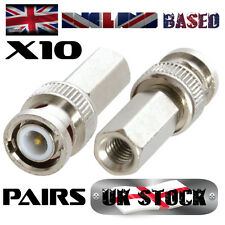 20X BNC Twist On (Screw On) Plugs - 75 Ohm RG59 CCTV Cable (20 pieces /10 pairs)