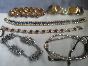 6 x Assorted Pretty Bracelets - incl. Abalone, Aurora Borealis