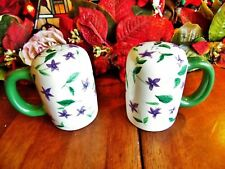 New Other(old stock) Large Wavely Sweet Violet Salt & Pepper Shakers W/Plugs