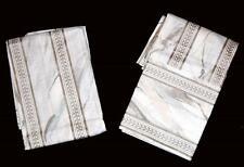 2 VTG Wamsutta Marble Paint Splash Metallic Stripes Standard Pillowcases NWOT