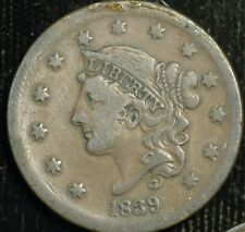 More details for usa cent 1839 matron head km#67 (t9)