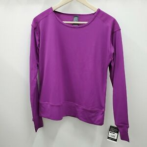 Champion C9 Duo Dry Women's Running Purple Long Sleeve Athletic Shirt Size XS