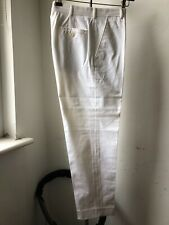 Very Cool Ralph Lauren purple label Made Italy cotton elastic whte trousers 30
