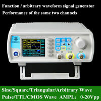 2018 JDS6600 15MHz Dual Channel Arbitrary Waveform DDS Signal Generator SWEEP