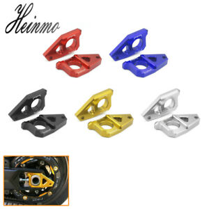 Motorcycle Axle Spindle Chain Adjuster Blocks For Yamaha YZF R1 FZ8 FZ1 TMAX 530