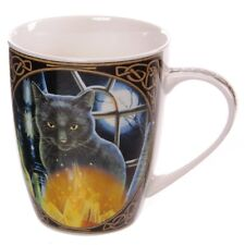 (Pair Of) Lisa Parker Bewitched Cat Bone China Mugs