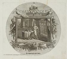 PROBST(*1721), Emblem, Eitelkeit und Selbstverliebtheit, Juvenal, um 1750, KSt