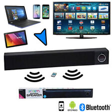 BOOM SOUNDBAR Bluetooth or Wired SPEAKER iPhone TV Laptop Console Android Remote