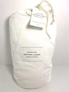 Restoration Hardware Stonewashed White Cotton Linen Full/Queen Duvet Cover NWT