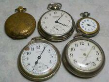 Watches Ingersoll Yankee Westclox Scotty Croton Lot Of 5 Vintage & Modern Pocket