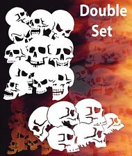Airbrush Skull Background Double Set Stencil Skulls Template Spray Vision