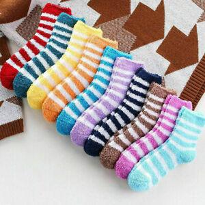 UK 6 Pairs Ladies Winter Warm Soft Fluffy Bed Socks Lounge Slipper Fleece Sock
