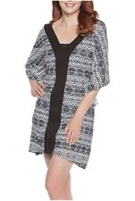 89e6ef1f36 Dotti black white swimsuit cover up L