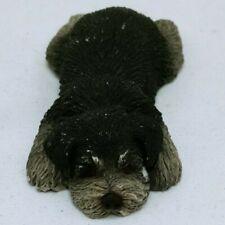 Sandicast Frogger S46 Lil' Snoozer Grey Black Schnauzer Dog Figurine 1988