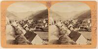Francia Auvergne Mont-Dore-Les-Bains Foto Lamy Stereo Vintage Albumina c1870