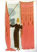 "ORIGINALE VINTAGE Erte Art Deco Print ""nuvoloso Morning"" FASHION BOOK Piastra"