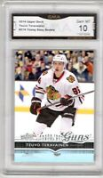 GMA 10 Gem Mint TEUVO TERAVAINEN 2014/15 UPPER DECK YOUNG GUNS ROOKIE CANES!