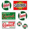 Adesivi castrol sticker vintage Decal auto moto casco helmet print pvc 7 pz.