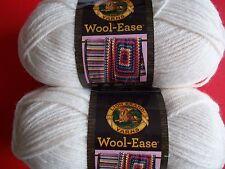 Lion Brand Wool-Ease wool blend yarn, Fisherman, lot of 2 (197 yds each)
