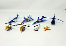 """Die Cast Planes and Helicopters Lot of 8 Aircraft Toys Marvel Police 2-5"""" EUC"""