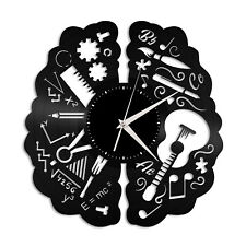 Creativity Brain Vinyl Wall Clock Unique Gift for Friends Home Room Decoration