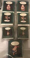 Collector Club Miniatures Hallmark Holiday Euc Lot Of 7, 1995, 1996, 1998.