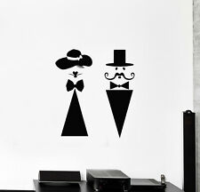 Vinyl Wall Decal Ladies Gents Hygienic Place Lavatory Badge WC Stickers (g289)