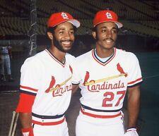 1982 OZZIE SMITH & LONNIE SMITH St. Louis Cardinals ALL-STAR Glossy Photo 8x10