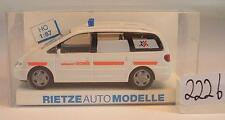 Rietze 1/87 50810 Seat Alhambra Ambulance Godrie Belgien OVP #2226