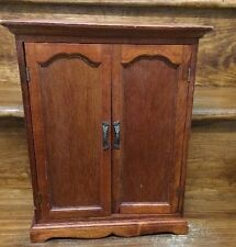 Solid wood jewelry armoire ebay for Solid wood jewelry chest