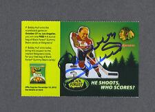 Bobby Hull signed 2010 Ferrara Pan Candy coupon card