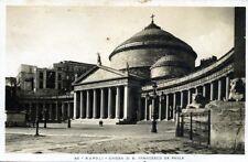 """"""" NAPOLI : Chiesa di S. Francesco Da Paola """"   Viaggiata  Anno 1945"""