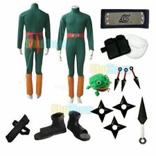 Brand New Naruto Rock Lee cosplay costume props halloween set Accessory Jumpsuit