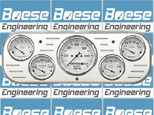 37 38 Chevy Car Billet Aluminum Gauge Panel Dash Insert Instrument Cluster