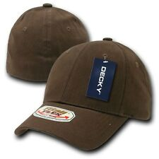 Brown Solid Blank Plain Flex Curved Baseball Ball Fit Fitted Cap Caps Hat - S/M