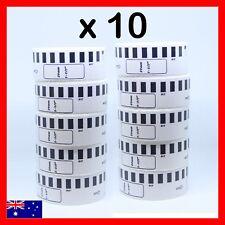 10 x ROLLS DK22210 DK 22210 BROTHER COMPATIBLE CONTINUOUS LABELS 29mm x 30.4m