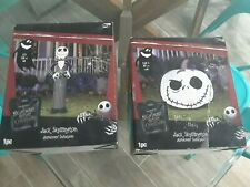 2) The Nightmare Before Christmas Jack Skellington Halloween Inflatables, New