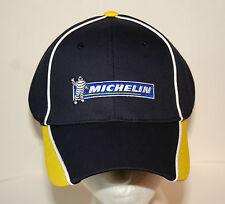Michelin Man Rubber Tire Car Trucker Blue Yellow Baseball Cap Hat New OSFM