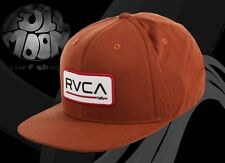 New RVCA Big Blocks Rust Mens Snapback Cap Hat