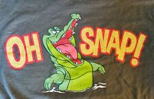 """Disney Parks Peter Pan """"Oh snap� crocodile shirt. Adult size small"""