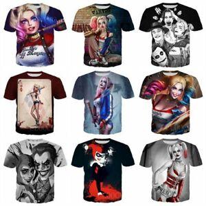 Funny Harley Quinn 3D print Men's Women's Casual short-sleeve T-Shirt Tops