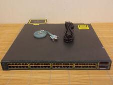 Cisco Catalyst WS-C3560E-48PD-SF 48 10/100/1000 PoE ports 2x X2 10 Gigabit ports